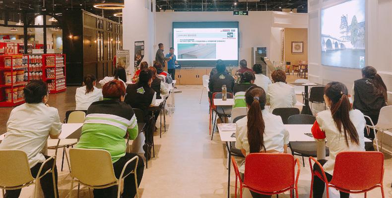 德奥金森爱格地板安装技术培训活动顺利举行